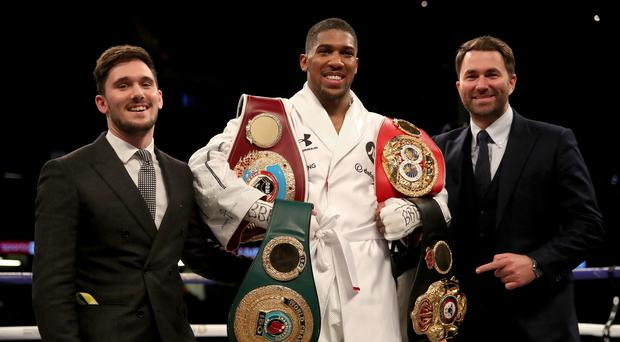 Anthony Joshua faces a delay in his bid for a fight against Deontay Wilder (Nick Potts/PA)