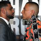 Amir Khan (left) and Samuel Vargas (right) will face each other in September. (Simon Cooper/PA)