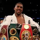 Anthony Joshua is the IBF, WBA and WBO heavyweight champion