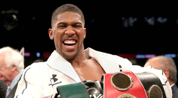 Anthony Joshua, pictured, has not fought since a March victory over Joseph Parker (Nick Potts/PA)