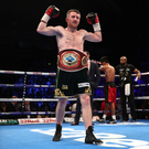 Fight game: Paddy Barnes after winning the WBO Intercontinetal flyweight title last year at the SSE Arena