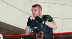 Paddy Barnes in training