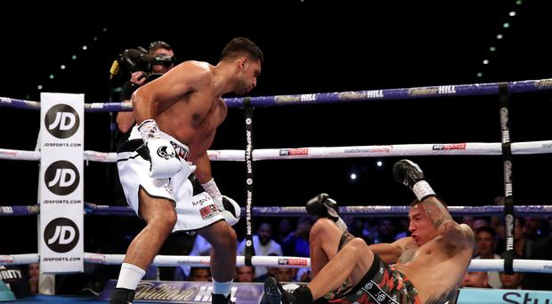 Amir Khan came out unanimous points winner against Samuel Vargas (Nick Potts/PA)