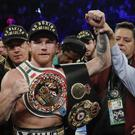 Canelo Alvarez defeated Gennady Golovkin by majority decision in a middleweight title boxing match (Isaac Brekken/AP)