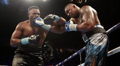 Dillian Whyte (right) and Dereck Chisora (left) will clash again at The O2 (Peter Byrne/PA)