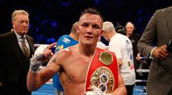 Josh Warrington retained his IBF featherweight title (Martin Rickett/PA)
