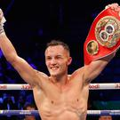 Josh Warrington, pictured, retained his IBF featherweight title by outpointing Carl Frampton in December (Martin Rickett/PA)