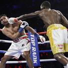 Amir Khan was losing heavily to Terence Crawford before the fight's controversial ending (Frank Franklin II/AP)
