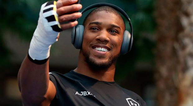 In the frame: Anthony Joshua in New York ahead of big fight