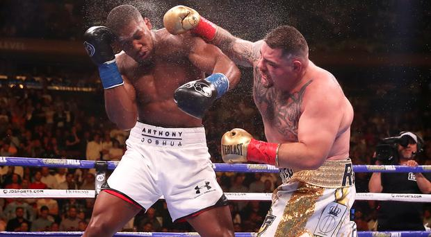 Andy Ruiz Jr, right, pulled off a shock victory over Anthony Joshua at Madison Square Garden (Nick Potts/PA)