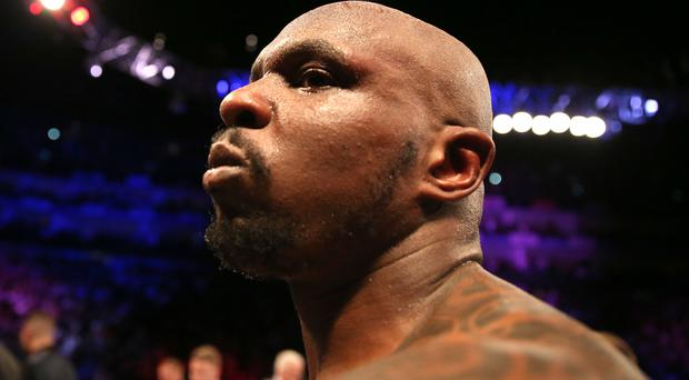 Dillian Whyte has been provisionally suspended by the WBC (Steven Paston/PA)