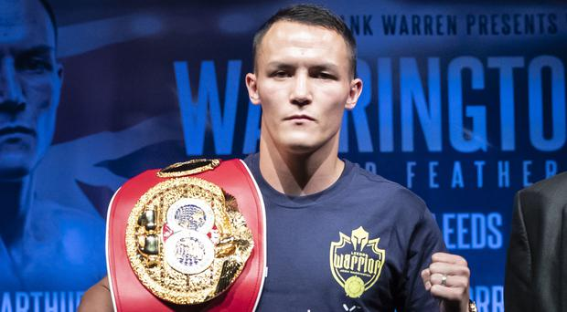 Josh Warrington will make the third defence of his IBF featherweight title in October (Danny Lawson/PA)