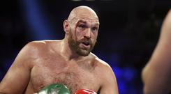 Tyson Fury suffered nasty cuts above his eye in his victory over Otto Wallin (Isaac Brekken/AP)