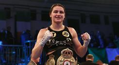 Katie Taylor will bid to become a two-weight world champion (Tim Goode/PA)
