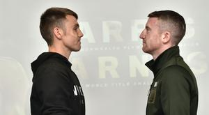 Battle ready: Belfast flyweight Paddy Barnes (right) will take on European champion Jay Harris at the Ulster Hall tomorrow