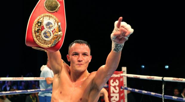 Josh Warrington was dominant in his IBF world featherweight title defence against Sofiane Takoucht (Richard Sellers/PA)