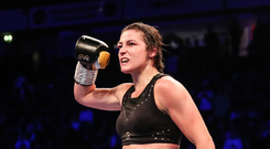 On top: Katie Taylor lifted the WBO super-lightweight crown