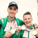 Family fortunes: Aidan Walsh and his sister Michaela show off their Commonwealth Games medals and are now both gunning for Irish Elite success