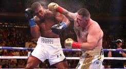 Anthony Joshua, left, takes on Andy Ruiz Jr for a second time on Saturday (Nick Potts/PA)