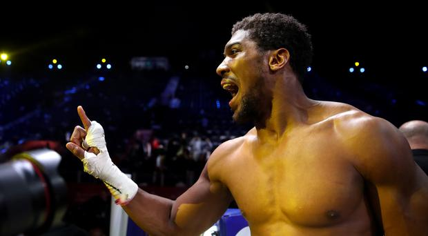 Anthony Joshua is back on top of the world (Nick Potts/PA)