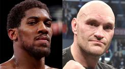 Joe Calzaghe believes Anthony Joshua and Tyson Fury must meet for the sake of heavyweight boxing (Nick Potts/Lionel Hahn/PA)