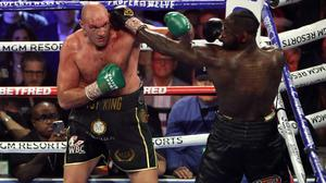 Tyson Fury says a third fight against Deontay Wilder is off (Bradley Collyer/PA)