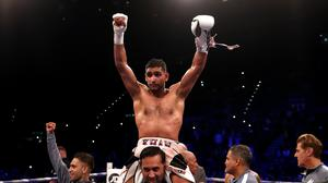 Amir Khan is still chasing a bout with Manny Pacquiao (Nick Potts/PA)
