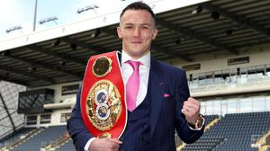 Josh Warrington is set to fight next month for the first time since October 2019 (Bradley Collyer/PA)
