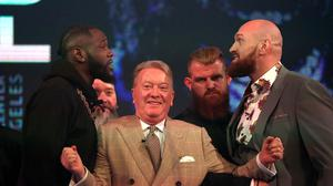 Deontay Wilder and Tyson Fury fight in Los Angeles on Saturday (Steven Paston/PA)