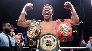 Anthony Joshua, pictured, says a clash with Tyson Fury could take place in June (Nick Potts/PA)