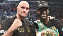 Tyson Fury (left) and Deontay Wilder will go head-to-head at Las Vegas' MGM Grand Garden Arena next month (Lionel Hahn/PA)