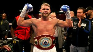 Billy Joe Saunders has been fined for a video that appeared to condone domestic violence (Paul Harding/PA)