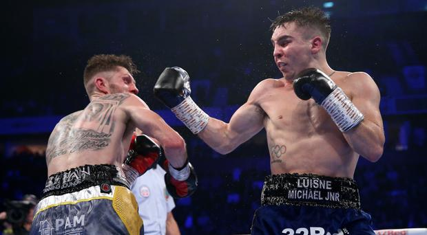 New chapter: Michael Conlan on the front foot against Jason Cunningham