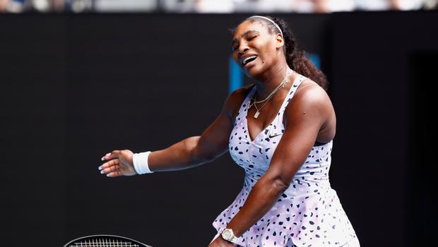 Going home: Serena Williams shows her frustration
