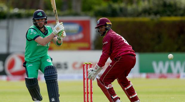 So close: Andrew Balbirnie was left gutted by defeat to the West Indies