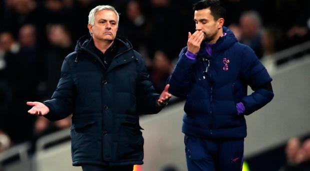 Big problem: Jose Mourinho reacts to the news of the alleged abuse at Tottenham on Sunday
