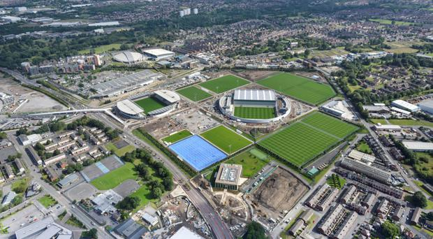 Grass is greener: Manchester City's impressive new training complex is attracting the best youngsters in the area