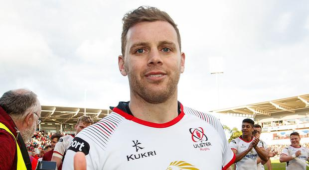Thumbs up: Darren Cave after his final home game for Ulster, the win over Connacht