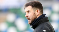 Main man: Stephen McDonnell continues to impress as Warrenpoint Town boss