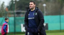 Feeling Peaky: David Healy looks on in disgust as Linfield lose out to Queen's University in the Sadler's Peaky Blinder Irish Cup