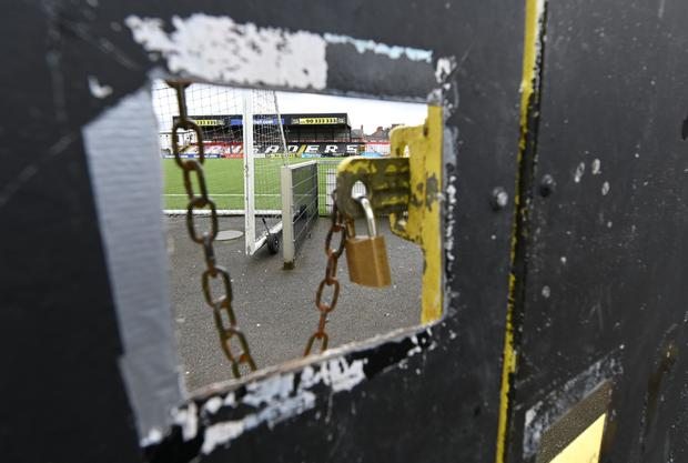 The gates remain closed for local football