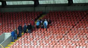 Lucky 13: Larne's small band of men at Windsor Park back in 2008