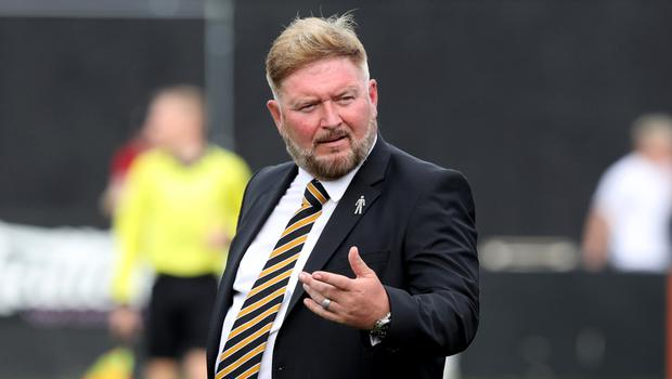 Currie concerns: Carrick Rangers boss Niall Currie fears teams will be cut adrift