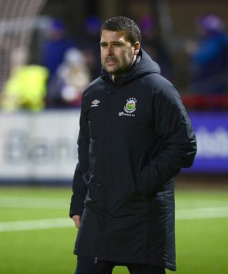 Seeing red: David Healy was left fuming by Stephen Fallon's dismissal at Larne