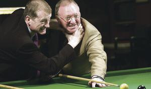 Rematch: Steve Davis finally gets to grips with Dennis Taylor, only 28 years late