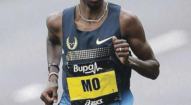 Mo Farah, pictured impersonating one of The Flumps