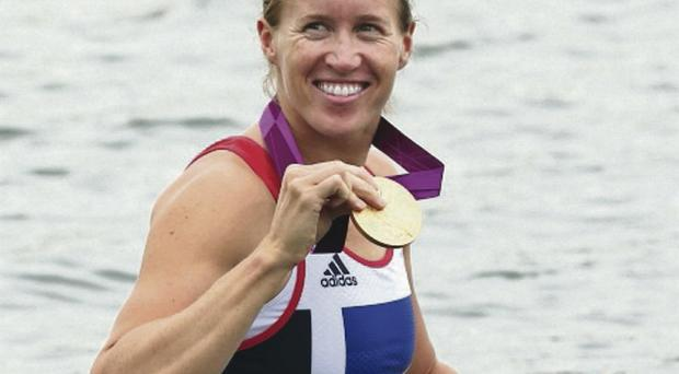 Helen Glover, a rower of cyclist