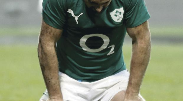 Defeat was hard to take for Rob Kearney