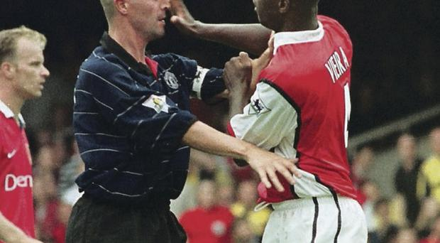 Roy Keane and Patrick Vieira come to blows