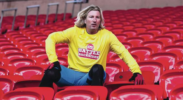 Hair we go: Things get off to a promising start at the inaugural meeting of the Robbie Savage Appreciation Society